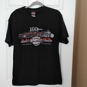 Men's Large USA Harley Davidson T-shirt 100 years